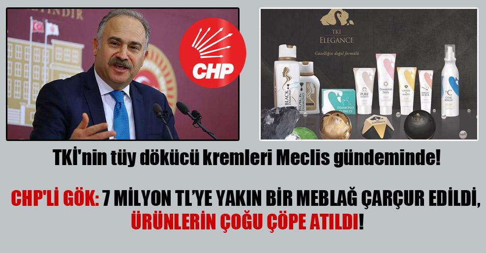 TKİ'nin tüy dökücü kremleri Meclis gündeminde! CHP'li Gök: 7 milyon TL'ye yakın bir meblağ çarçur edildi, ürünlerin çoğu çöpe atıldı!