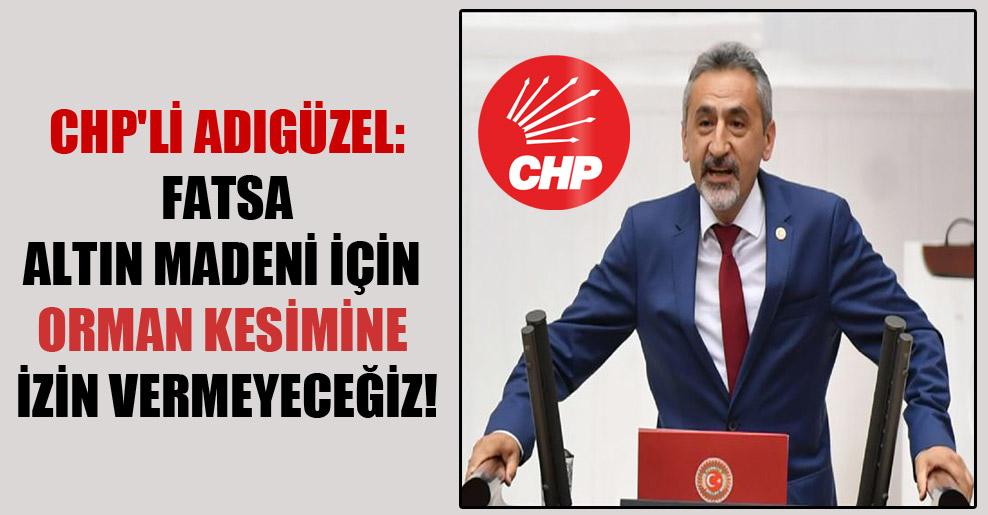 CHP'li Adıgüzel: Fatsa altın madeni için orman kesimine izin vermeyeceğiz!