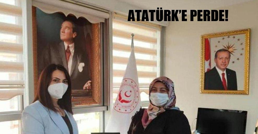 Atatürk'e perde!