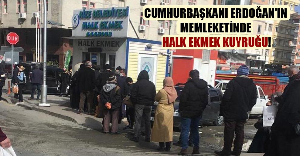 Cumhurbaşkanı Erdoğan'ın memleketinde halk ekmek kuyruğu!