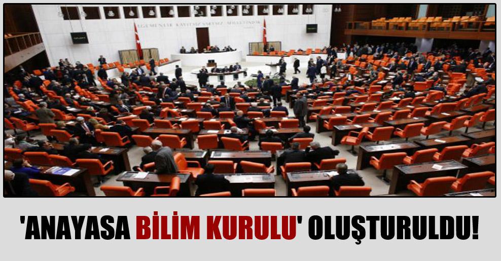 'Anayasa Bilim Kurulu' oluşturuldu!