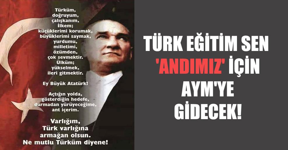 Türk Eğitim Sen 'Andımız' için AYM'ye gidecek!