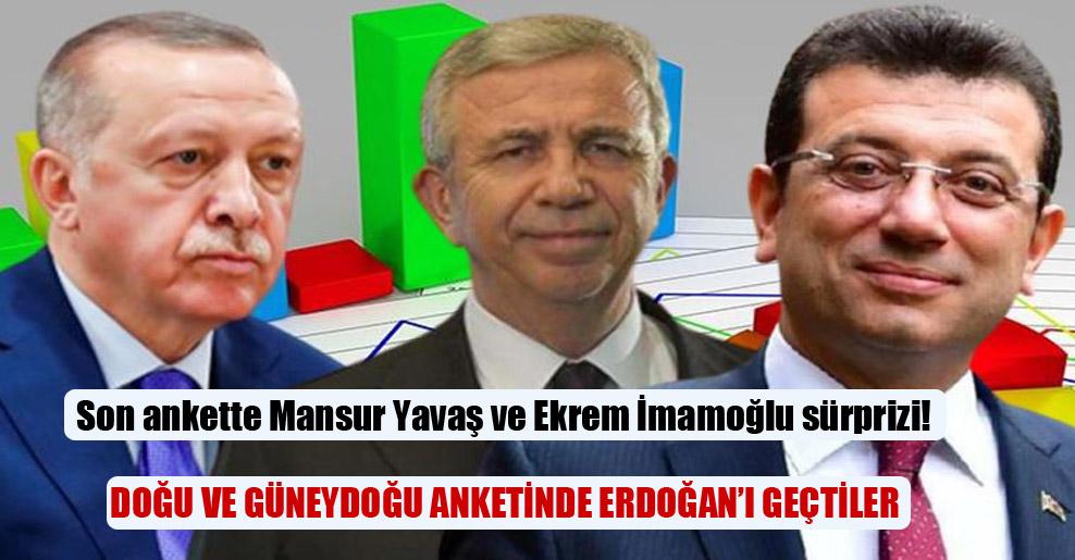 Son ankette Mansur Yavaş ve Ekrem İmamoğlu sürprizi!