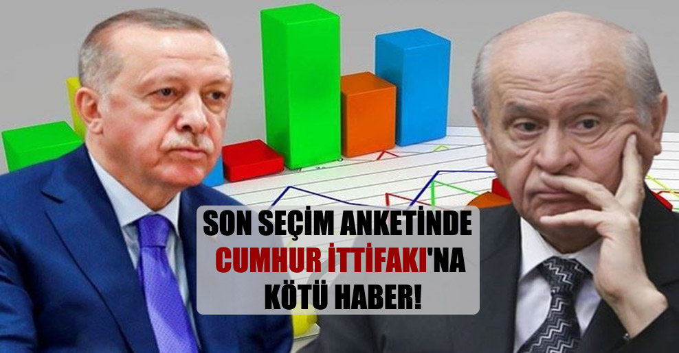 Son seçim anketinde Cumhur İttifakı'na kötü haber!