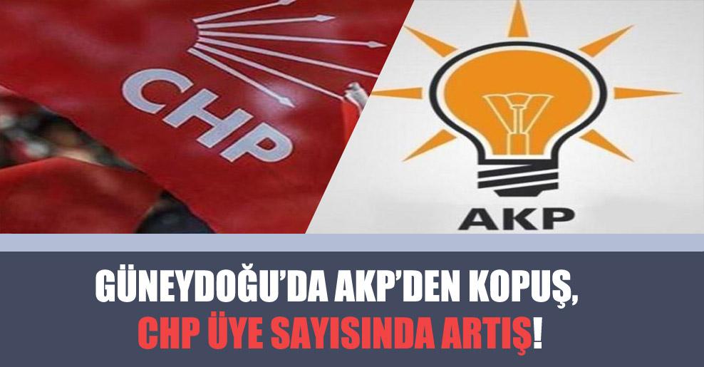 Güneydoğu'da AKP'den kopuş, CHP üye sayısında artış!