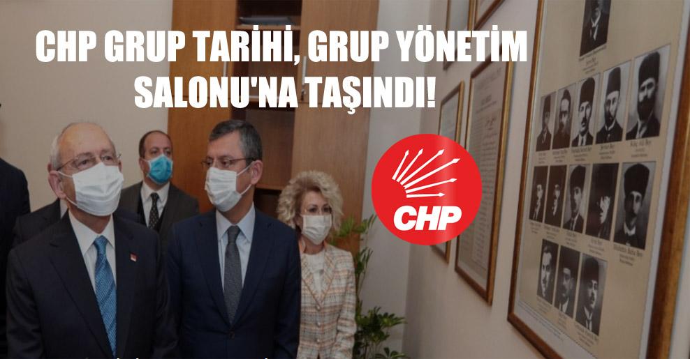 CHP grup tarihi, Grup Yönetim Salonu'na taşındı!