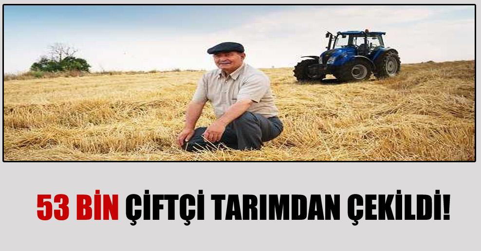 53 bin çiftçi tarımdan çekildi!