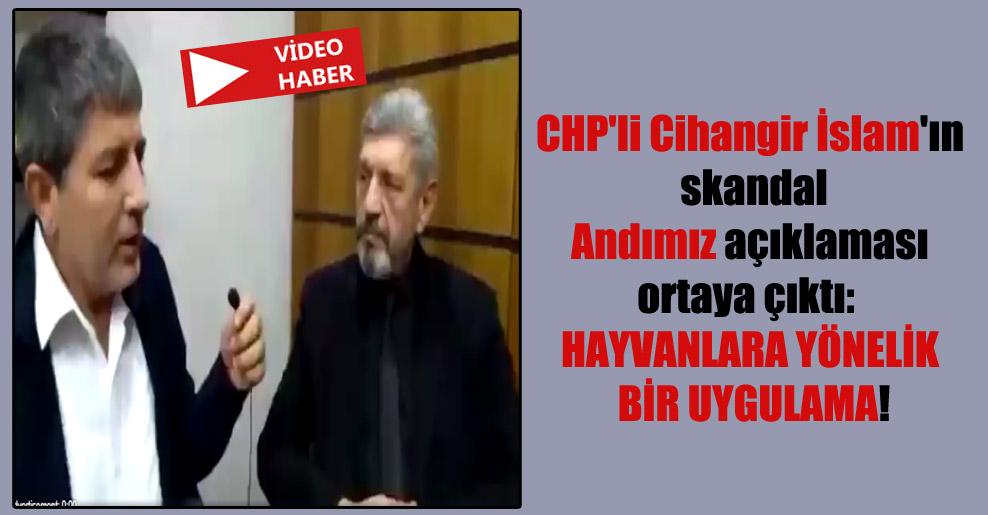 CHP'li Cihangir İslam'ın skandal Andımız açıklaması ortaya çıktı: Hayvanlara yönelik bir uygulama!