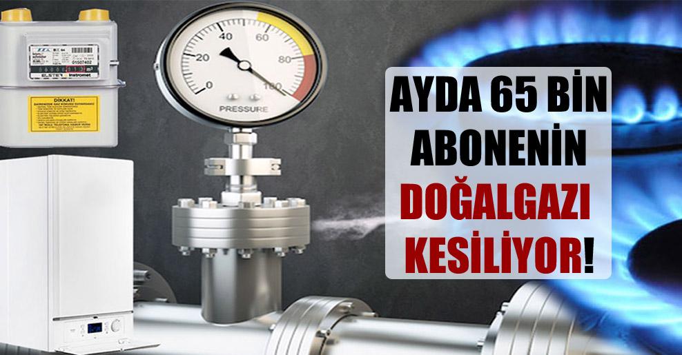 Ayda 65 bin abonenin doğalgazı kesiliyor!