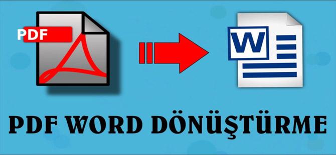 PDF dosyalarını WORD doyasına dönüştürme!