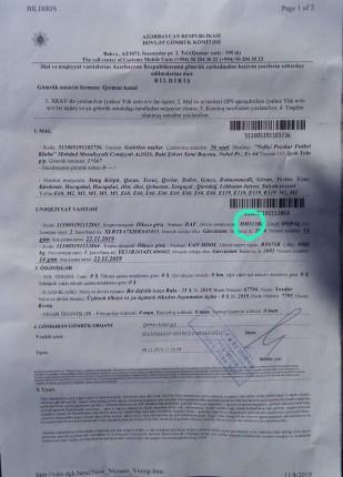 gürcü plakalı araçtan alınan ücretin faturası