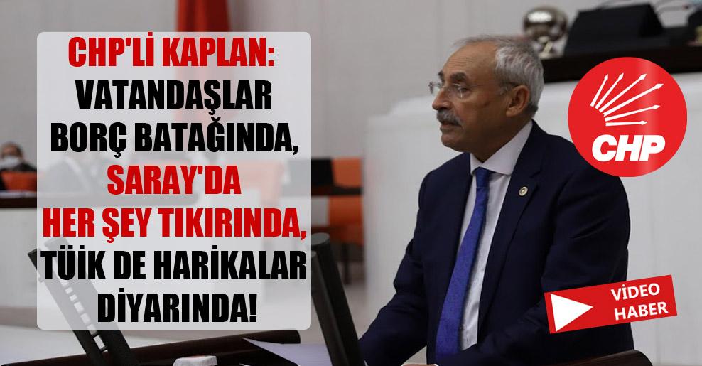 CHP'li Kaplan: Vatandaşlar borç batağında, Saray'da her şey tıkırında, TÜİK de harikalar diyarında!