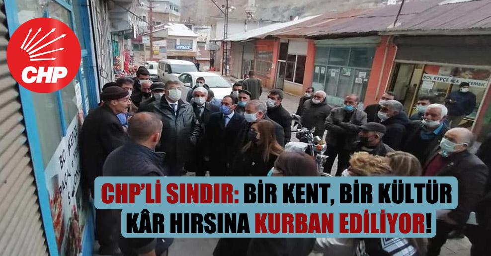 CHP'li Sındır: Bir kent bir kültür kâr hırsına kurban ediliyor!