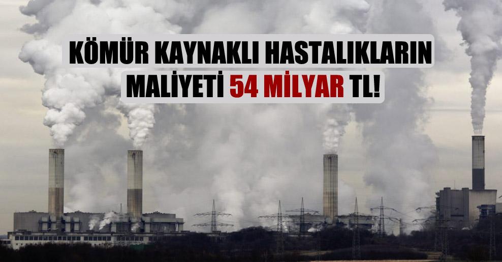 Kömür kaynaklı hastalıkların maliyeti 54 milyar TL!