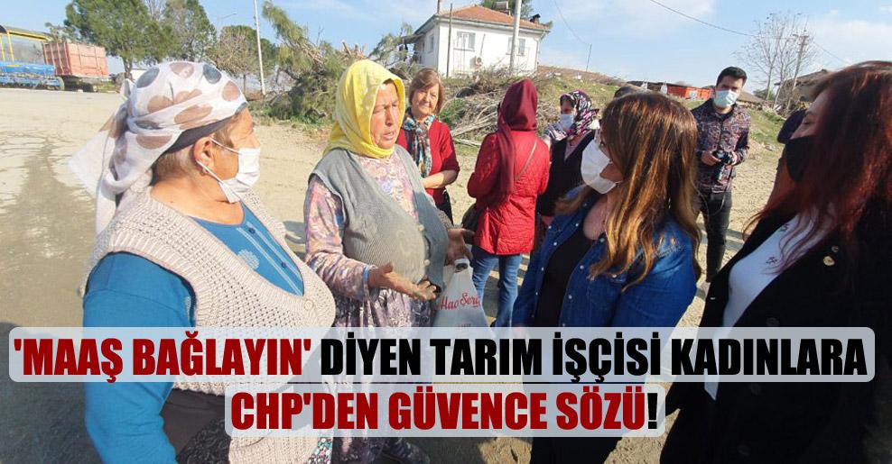 'Maaş bağlayın' diyen tarım işçisi kadınlara CHP'den güvence sözü!