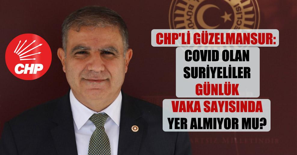 CHP'li Güzelmansur: Covid olan Suriyeliler günlük vaka sayısında yer almıyor mu?