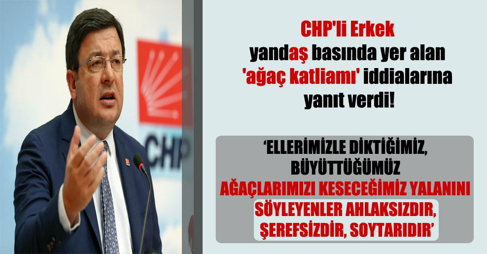 CHP'li Erkek yandaş basında yer alan 'ağaç katliamı' iddialarına yanıt verdi!