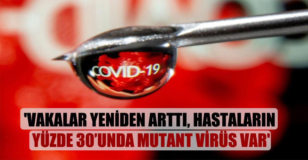 'Vakalar yeniden arttı, hastaların yüzde 30'unda mutant virüs var'