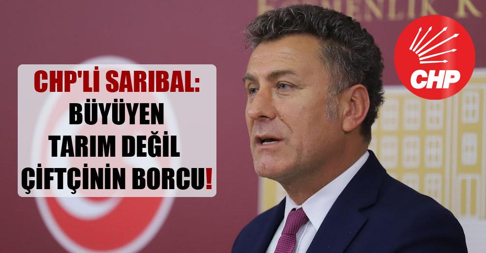 CHP'li Sarıbal: Büyüyen tarım değil çiftçinin borcu!