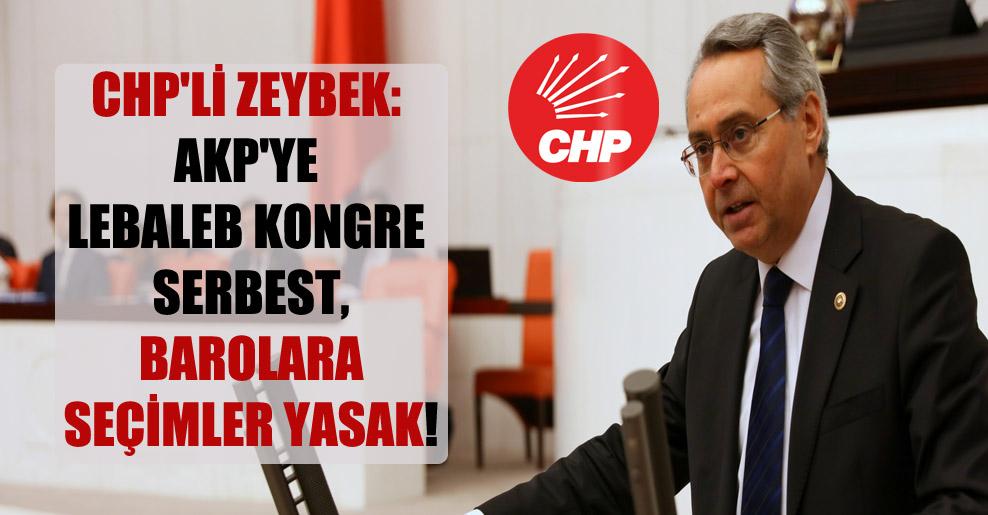 CHP'li Zeybek: AKP'ye lebaleb kongre serbest, barolara seçimler yasak!