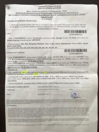 türk plakalı araçtan alınan ücretin faturası