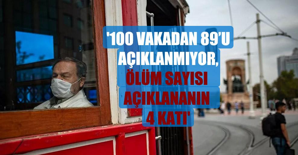 '100 vakadan 89'u açıklanmıyor, ölüm sayısı açıklananın 4 katı'