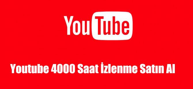Youtube 4000 Saat İzlenme Satın Al