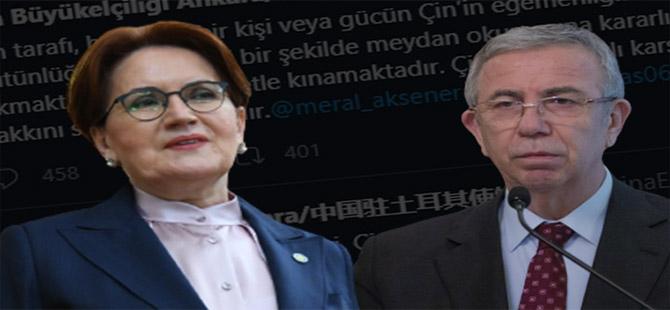Çin'den Mansur Yavaş ve Meral Akşener için bir açıklama daha geldi!