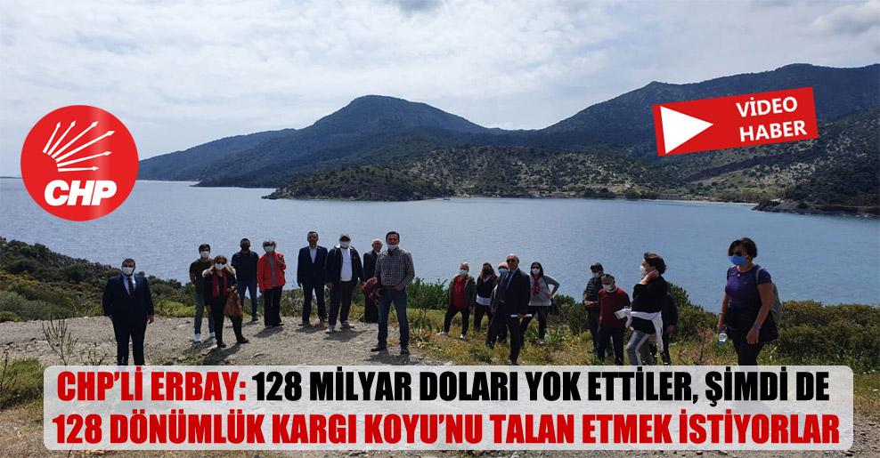 CHP'li Erbay: 128 milyar doları yok ettiler, şimdi de 128 dönümlük Kargı Koyu'nu talan etmek istiyorlar