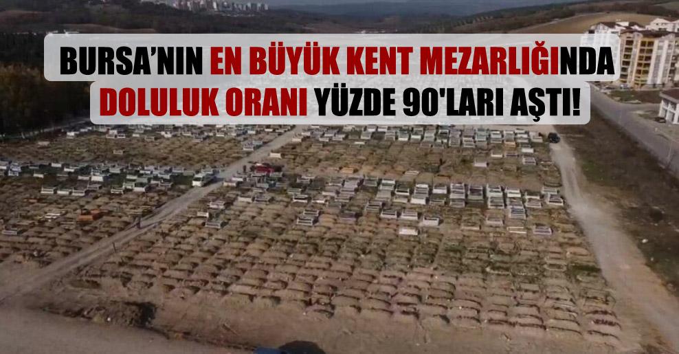 Bursa'nın en büyük kent mezarlığında doluluk oranı yüzde 90'ları aştı!