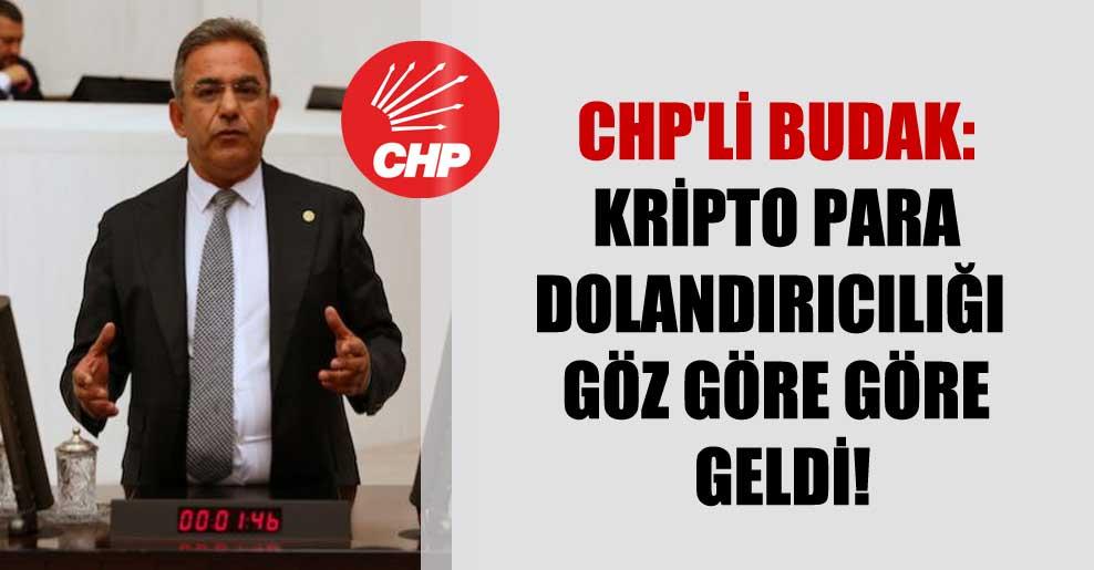 CHP'li Budak: Kripto para dolandırıcılığı göz göre göre geldi!