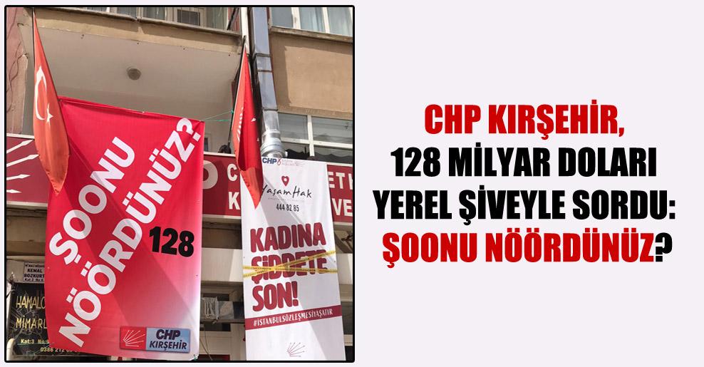 CHP Kırşehir, 128 milyar doları yerel şiveyle sordu: Şoonu nöördünüz?