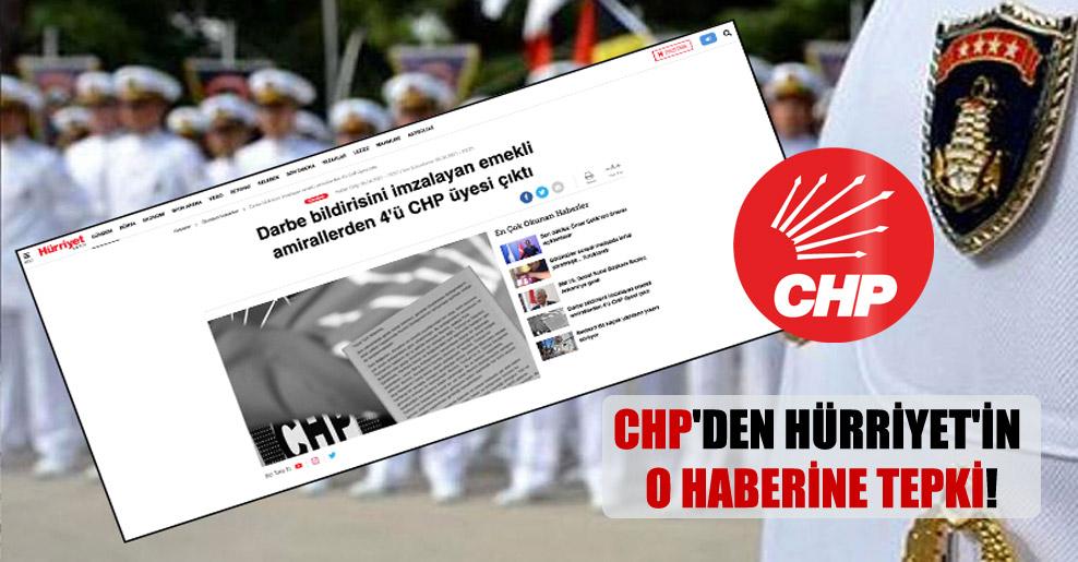 CHP'den Hürriyet'in o haberine tepki!