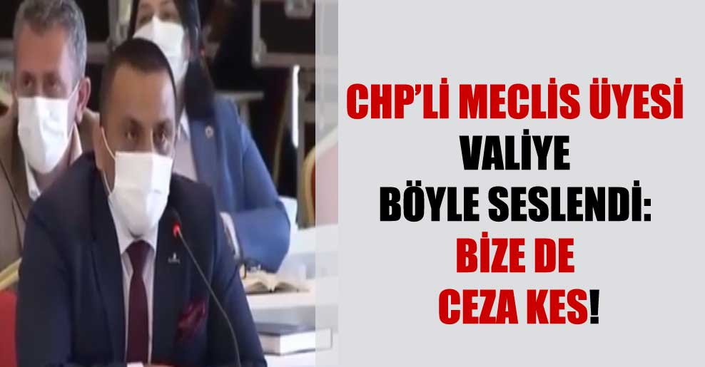 CHP'li Meclis üyesi valiye böyle seslendi: Bize de ceza kes!