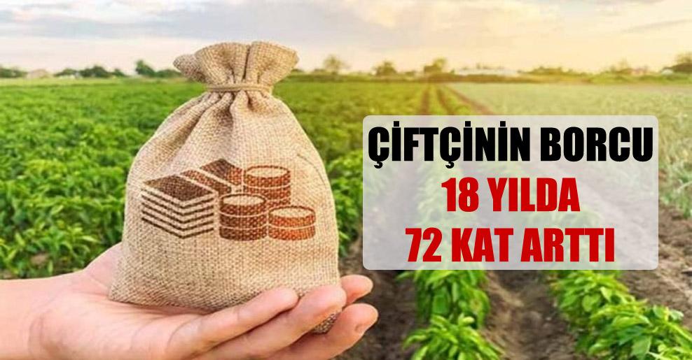 Çiftçinin borcu 18 yılda 72 kat arttı