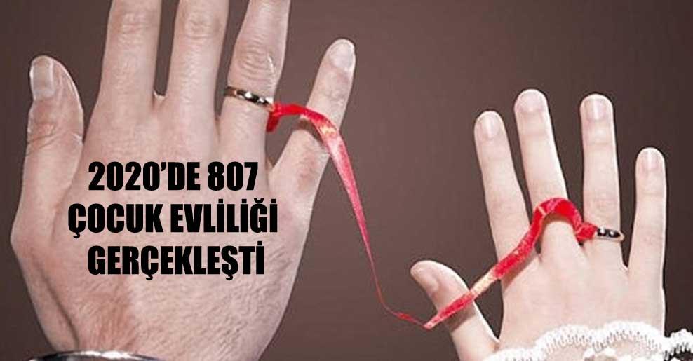 2020'de 807 çocuk evliliği gerçekleşti