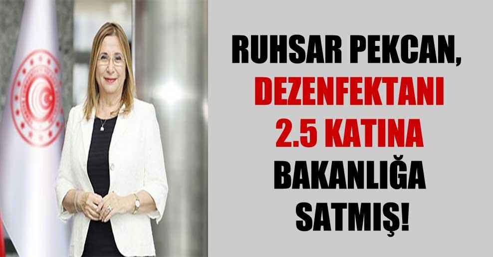Ruhsar Pekcan, dezenfektanı 2.5 katına bakanlığa satmış!