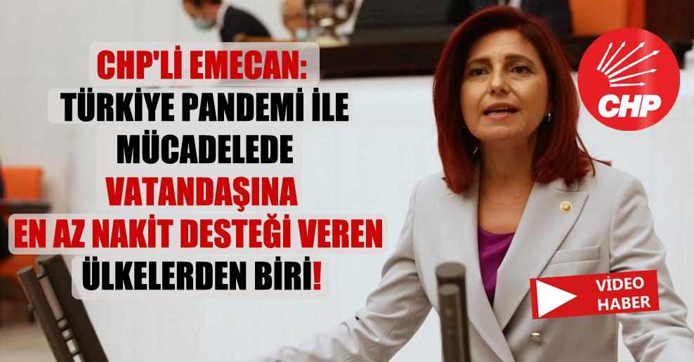 CHP'li Emecan: Türkiye pandemi ile mücadelede vatandaşına en az nakit desteği veren ülkelerden biri!