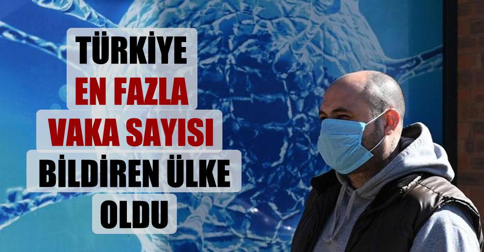 Türkiye en fazla vaka sayısı bildiren ülke oldu