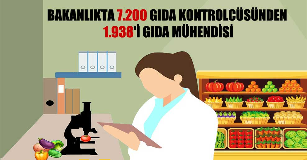 Bakanlıkta 7.200 gıda kontrolcüsünden 1.938''i gıda mühendisi