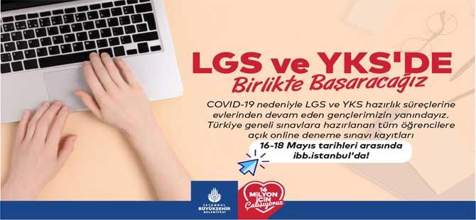 İBB'den öğrencilere LGS ve YKS sınav desteği