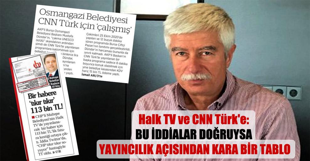Halk TV ve CNN Türk'e: Bu iddialar doğruysa yayıncılık açısından kara bir tablo