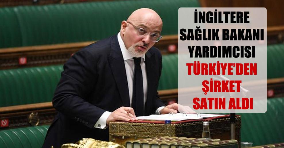 İngiltere Sağlık Bakanı yardımcısı Türkiye'den şirket satın aldı