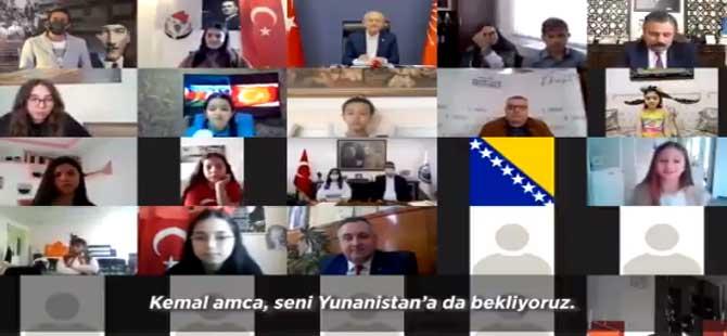 Kılıçdaroğlu, çocuklarla çevrimiçi bayramlaştı: Kemal amca seni Yunanistan'a da bekliyoruz