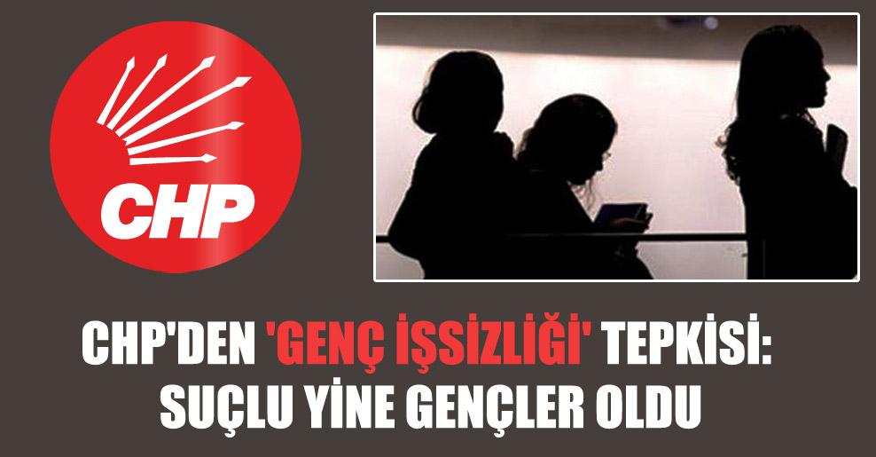 CHP'den 'genç işsizliği' tepkisi: Suçlu yine gençler oldu