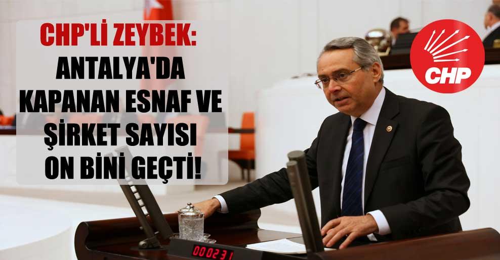 CHP'li Zeybek: Antalya'da kapanan esnaf ve şirket sayısı on bini geçti!