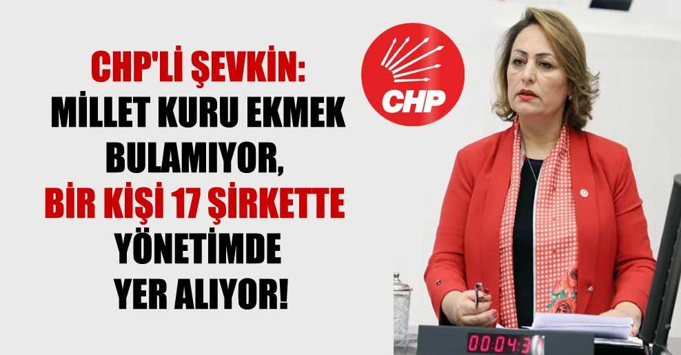 CHP'li Şevkin: Millet kuru ekmek bulamıyor, bir kişi 17 şirkette yönetimde yer alıyor!