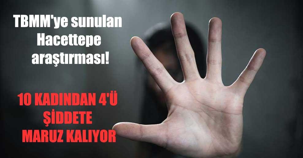 TBMM'ye sunulan Hacettepe araştırması!