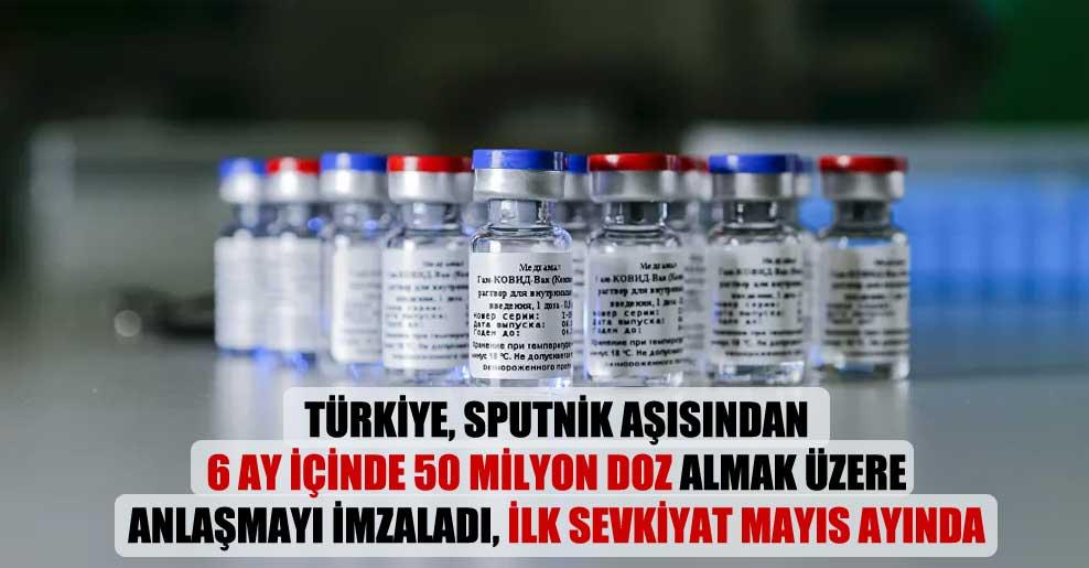 Türkiye, Sputnik aşısından 6 ay içinde 50 milyon doz almak üzere anlaşmayı imzaladı, ilk sevkiyat mayıs ayında