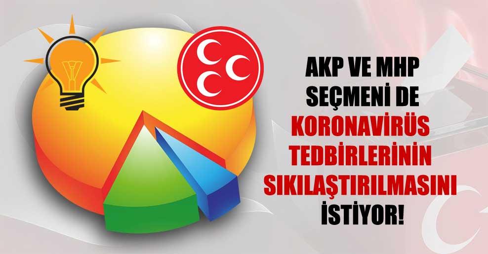 AKP ve MHP seçmeni de koronavirüs tedbirlerinin sıkılaştırılmasını istiyor!